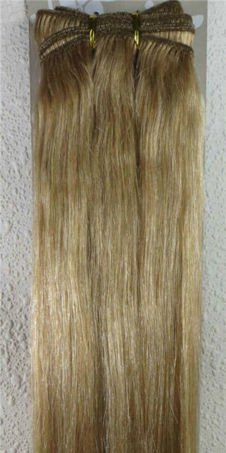 "New 18""-26"" Human Hair Extensions Weft Weave Straight 100g Ash Blonde #16"