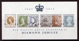 Grande-Bretagne-2012-Diamant-Jubile-Feuillet-MNH-non-Montes-Excellent-Etat