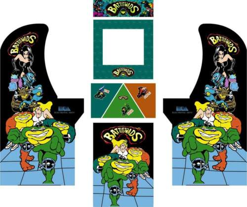 Arcade1up Arcade Cabinet Graphic Decal Complete Kits BattleToads
