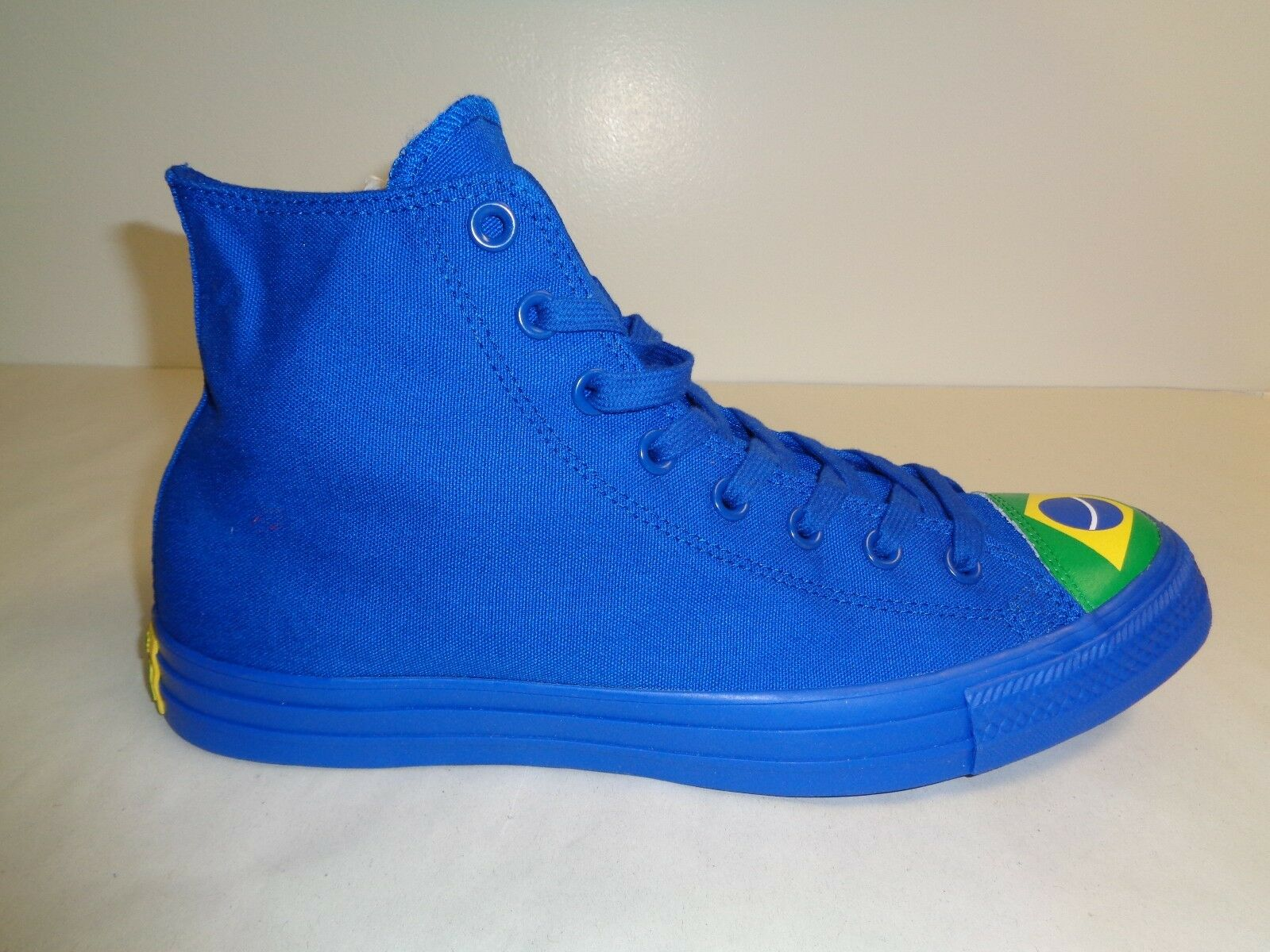 8332ff276a43 Converse Size 11 Mens CTAS HI Blue Green Green Green Brazil Flag Sneakers  New Unisex Shoes cbfc9a