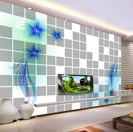 3D Fantasy Bule Star Petal Wall Paper Wall Print Decal Wall AJ WALLPAPER CA