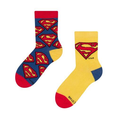 DC Comics Superman Logo Unisex Kids Superhero Socks