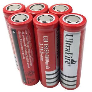 6pcs-18650-BATTERIES-Rechargeable-6800-mAh-3-7V-LI-ION-for-Flashlight-Torch-Lamp