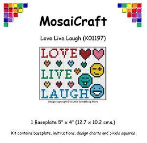 MosaiCraft-Pixel-Craft-Mosaic-Art-Kit-039-Love-Live-Laugh-039-Pixelhobby