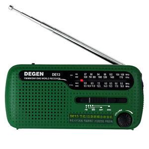 Green-DEGEN-DE13-FM-MW-SW-Crank-Dynamo-Solar-Emergency-Radio-World-Receiver-LED