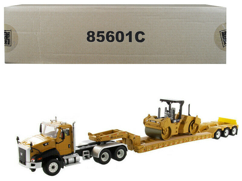Cat Caterpillar CT660 Day Cab with XL 120 Low-Profile HDG Lowboy Trailer and Cat