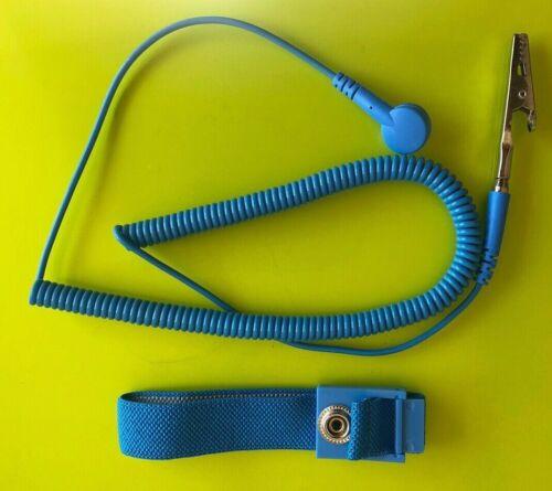 BLUE Anti Static Antistatic ESD Adjustable Wrist Strap UK Seller