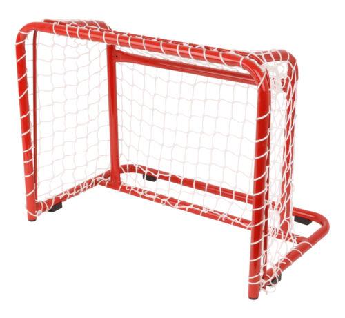 Hockeytor aus Stahl Robust Netz Inline Rot Tor Halle Hockey