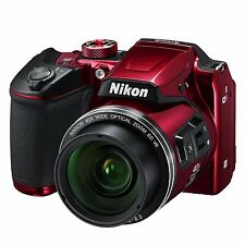 "Nikon COOLPIX B500 Digital Camera w/ 3""Display, 16MP, 40x Optical Zoom - Red"