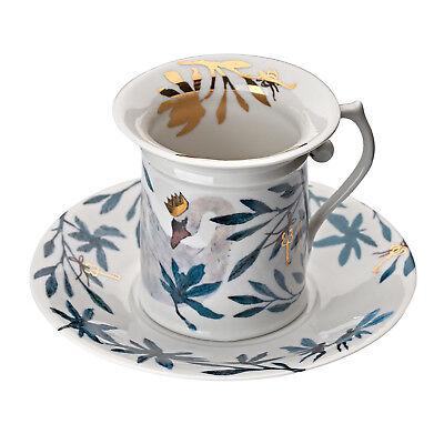 "Porcelain Coffee pair ""Swans"""