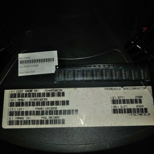 10PCS CD4093BCMX IC TRIGGER NAND QUAD 14-SOIC CD4093 4093 CD4093B 4093B FREE S/&H