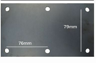 8 Hole Suspension Unit Welding Weld On Plate 500KG Mounting Plate Single