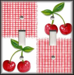 Image Is Loading Metal Switch Plate Cover Cherry Kitchen Decor Cherries