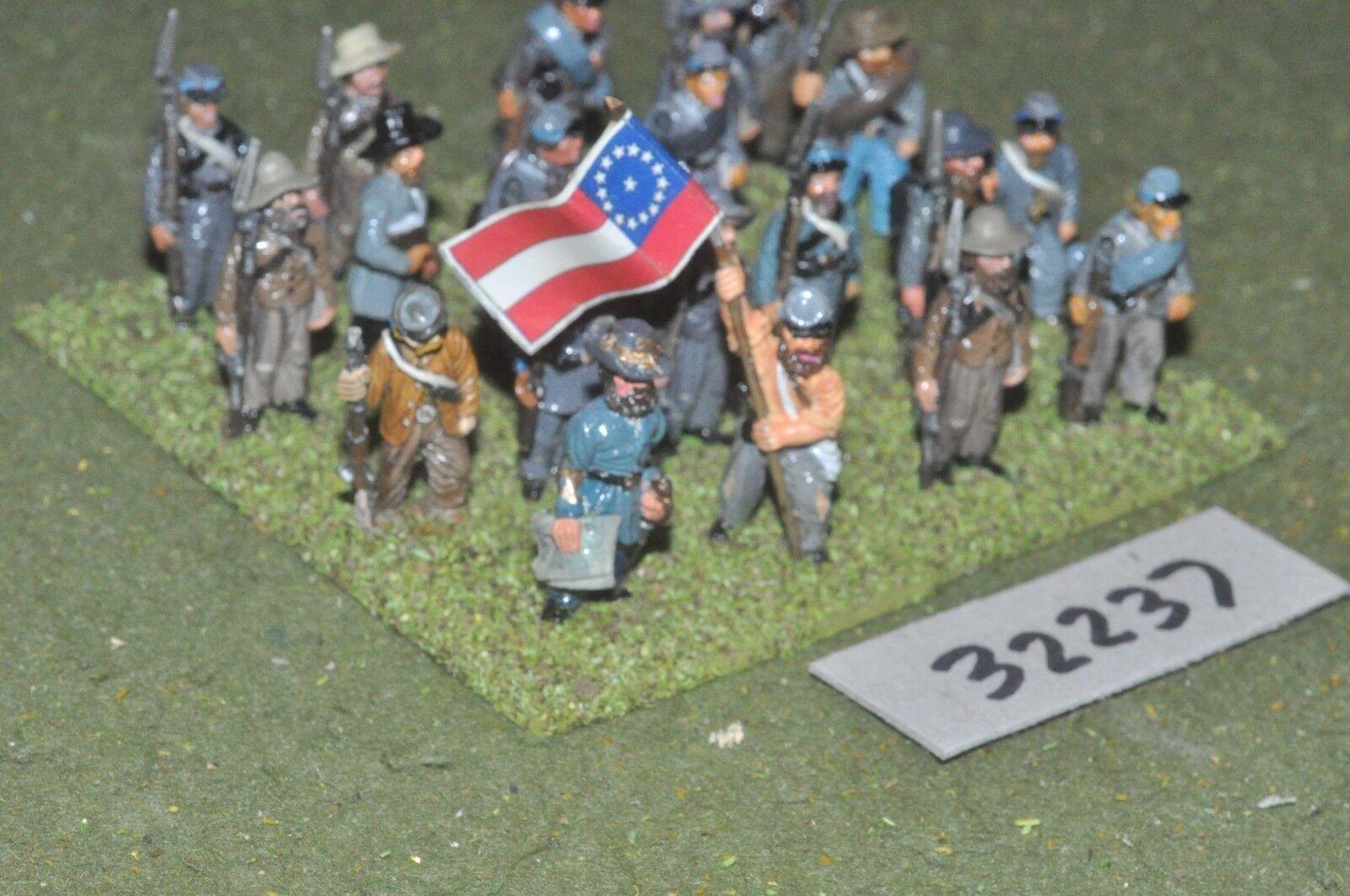 25mm ACW   confederate - regt. 20 figures - inf (32237)