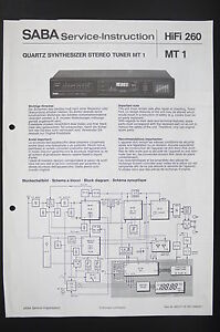saba synthesizer stereo tuner mt 1 service instruction diagram violin diagram image is loading saba synthesizer stereo tuner mt 1 service instruction