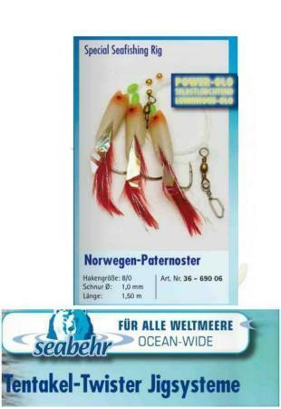 Montaje Pesca Mar Behr Paternoster señuelos cebos de pesca mar
