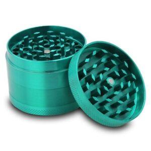 Zinc Alloy Grinder Tobacco Herb Spice Smoke Hand Chromium Green Crusher AU NEW 656202518463