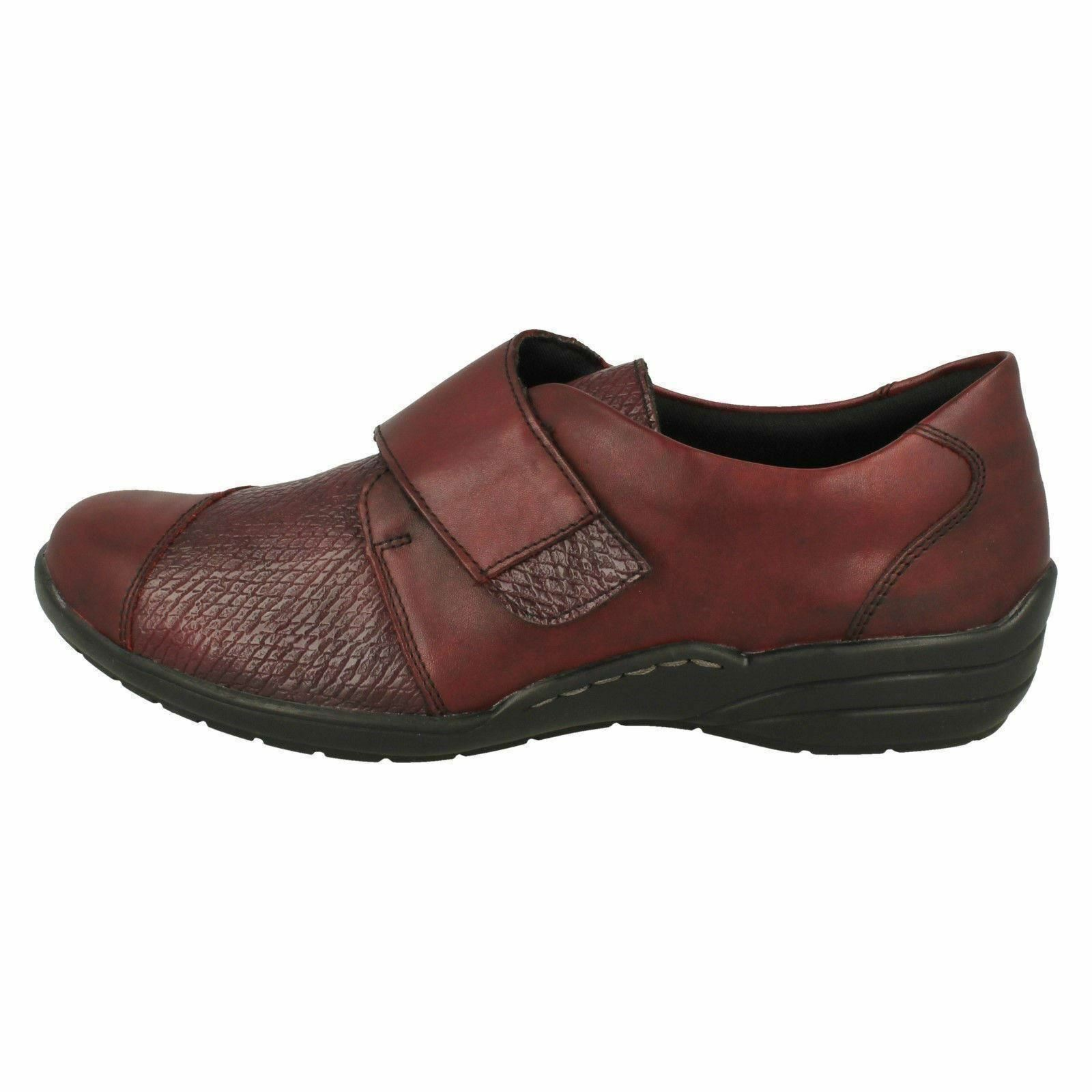 Donna Rossa Remonte R7628 pelle Rossa Donna   Basse Casual extra Larghezza 9f35c0