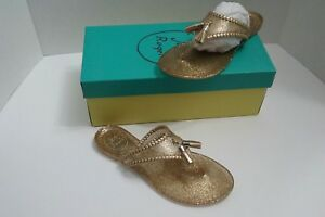 c45edd28b1f6 Jack Rogers Sandals Sparkle Alana Jelly Gold Brand New In Box Size 5 ...