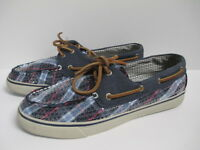 Sperry Top Sider Angelfish Loafer Boat Shoes 8.5 M Purple/plaid In Box
