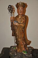 Large Antique Hardwood Figure Of Buddha Lohan, 20th Century