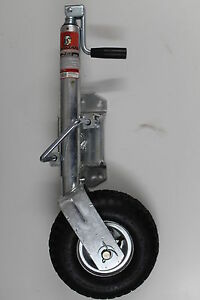 TROJAN-Jockey-Wheel-10-034-Pneumatic-Wheel-SWING-UP-caravan-car-trailer-boat