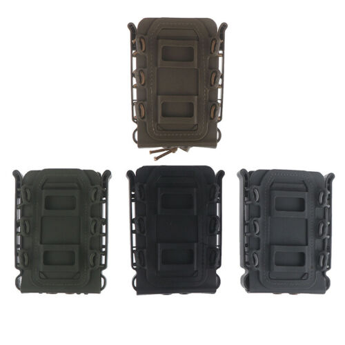 Tactical Pistol Mag Magazine Pouch Carrier 45ACP 5.56 7.62 9MM For Molle//B xJBE