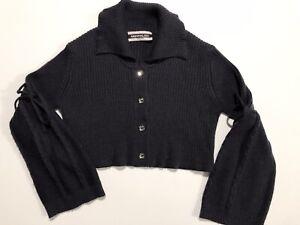 NEW-7-8-9-130-64-Monnalisa-sweater-jacket-wool-button-down-crystal-swarovski