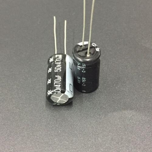 200pcs 50V 470uF 50V TK JAPAN 10x20mm electrolytic Capacitor