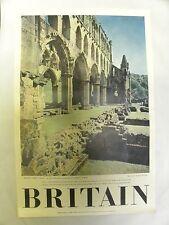 Vintage Britain Rievaulx Abbey Travel Association Tourism Poster (A10)