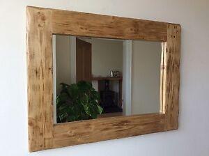 rustic wood mirror small image is loading beautifulqualityhandmadechunkyrusticwoodenmirror beautiful quality handmade chunky rustic wooden mirror ebay