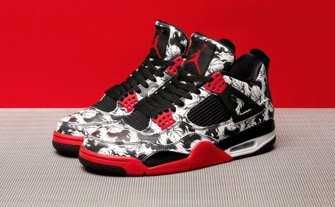Nike Air Jordan Retro IV Black Fire Red shoes Size 11.5 - new with box fast ship