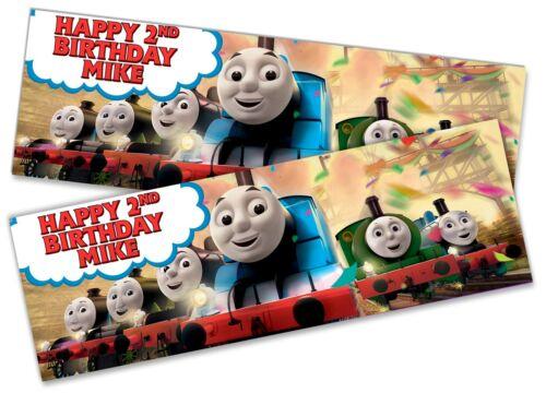 X2 Personnalisé Anniversaire Bannière Thomas Enfants Fête Décoration Poster 7
