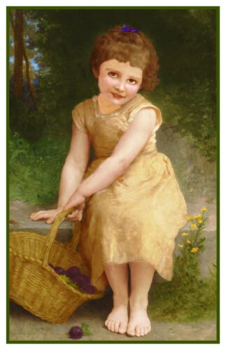 The Plums by William Adolphe Bouguereau Counted Cross Stitch Pattern