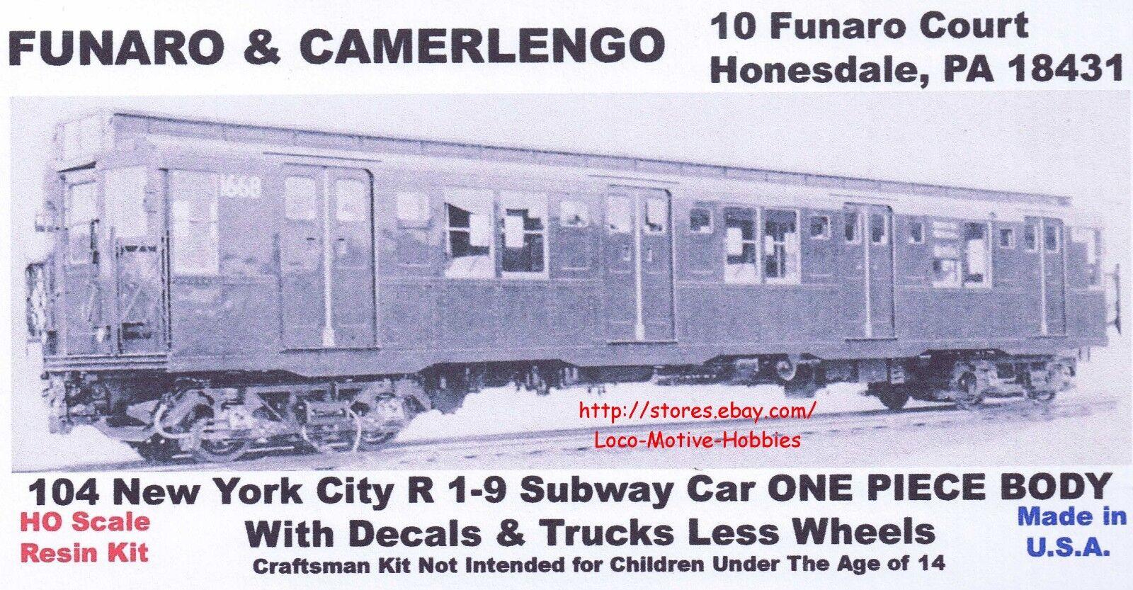 divertiessitoARO F&C 104 R 19 SUBWAY Passenger auto nuovo YORK città 1PC corpo W TRUCKS