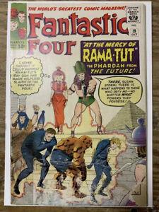 Fantastic-Four-19-Silver-Age-Marvel-Comic-Book-1st-Rama-Tut-FR-GD