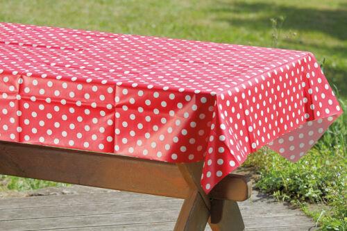 274240 Tischdecke Kunststoff rot-weiß 130 x 170 cm Gartentischdecke