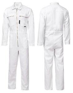 Overall-Arbeitskleidung-Rallye-Kombi-Weiss-100-Baumwolle-BW-280G-Berufskleidung