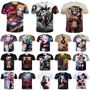 ad8012da3ac0 New Women Men Joker Harley Quinn Print 3D T-Shirt Casual Short ...