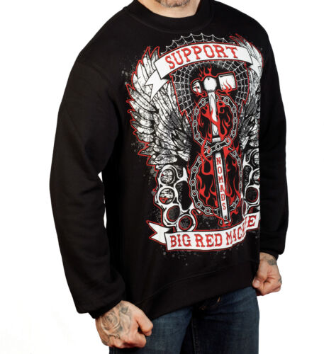 Hell/'s Angels Support 81 Pullover Nomads Italy black new