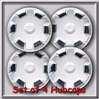 4 15 Silver Hubcaps Fits 2007-2008 Nissan Versa Hub Caps, Versa Wheel Covers