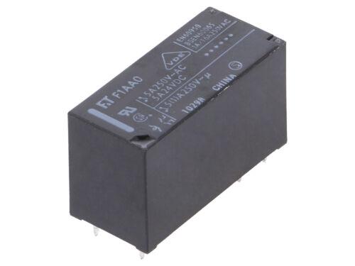 FTR-F1AA024V  Fujitsu  Relais  Relay  DPST-NO  24VDC  5A  1100R  NEW #BP 4 pcs