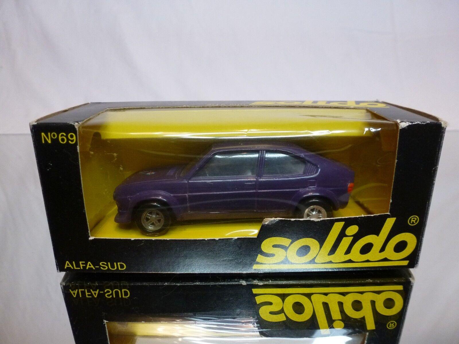 SOLIDO 69 ALFA ROMEO ALFASUD - PURPLE 1 43 RARE - GOOD CONDITION IN BOX