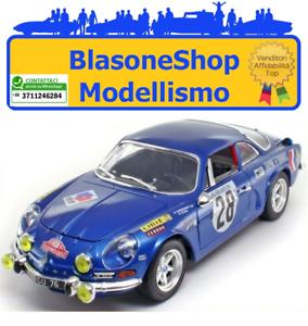 RENAULT-ALPINE-A110-1600S-Blu-Miniminiera-1-18-DIE-CAST-Rally-Montecarlo-1971