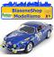 RENAULT-ALPINE-A110-1600S-Blu-Miniminiera-1-18-DIE-CAST-Rally-Montecarlo-1971 miniatura 1