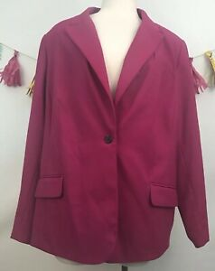 a336788571cf Image is loading Womens-Vince-Camuto-Pink-Blazer-Jacket-Sz-20W
