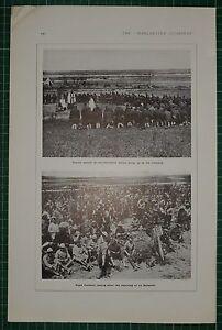 1916 WWI WW1 Aufdruck ~ Kirche Parade Auf Schlachtfeld ~ Royal Fusiliers La