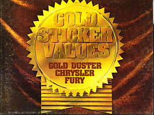 1973 Plymouth Gold Duster Fury Special Chrysler Newport Original Sales Brochure