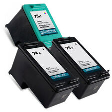3 Pack HP 74XL 75XL Ink Cartridge OfficeJet J5780 J5783 J5788 J5790 J6405 J