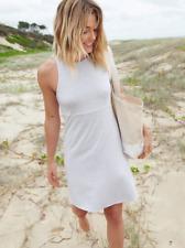 Athleta Grey Heather Stripe Reversible Santorini Dress Extra Small